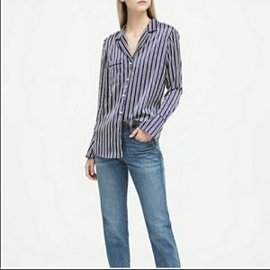 Banana Republic Dillon-Fit Pajama Style Shirt M